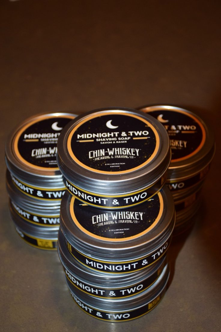 We performed a collaboration with Calgary's Chin Whiskey barbershop to create a high quality shave soap #chinwhiskey #midnightandtwo #yyc