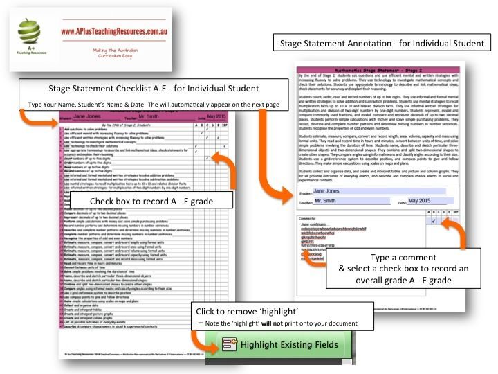 Another time saving teaching resource  From A Plus Teaching Resources - on DBT - NSW Syllabus MATHS Stage Statement  Checklists – Stage 2