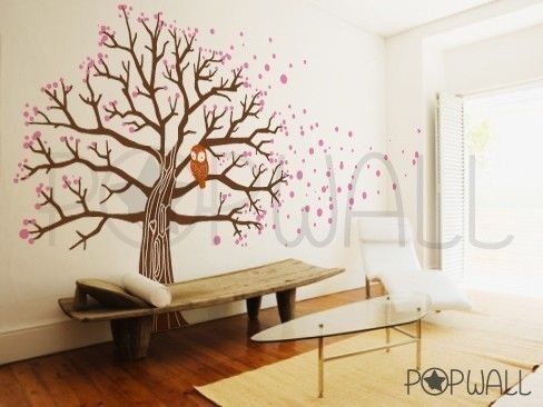 I painted a wall mural in our old house of a tree, but I like this one better.