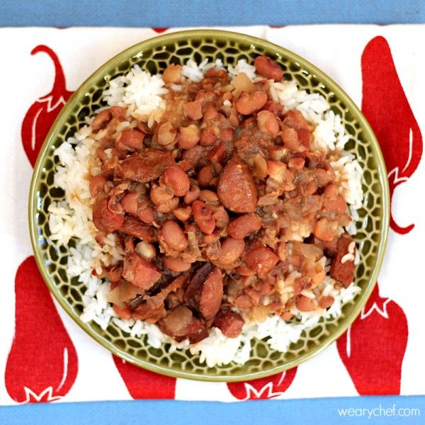 This slow cooker red beans and rice recipe brings you creamy, New Orleans style beans the easy way!