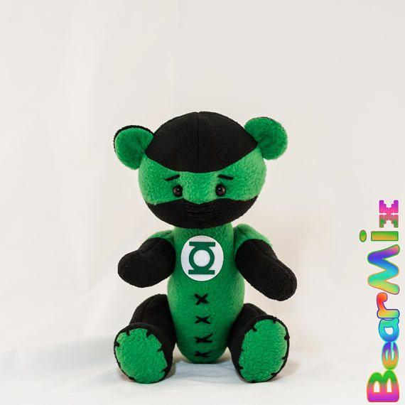 Green Lantern bear Мишка Зеленый Фонарь