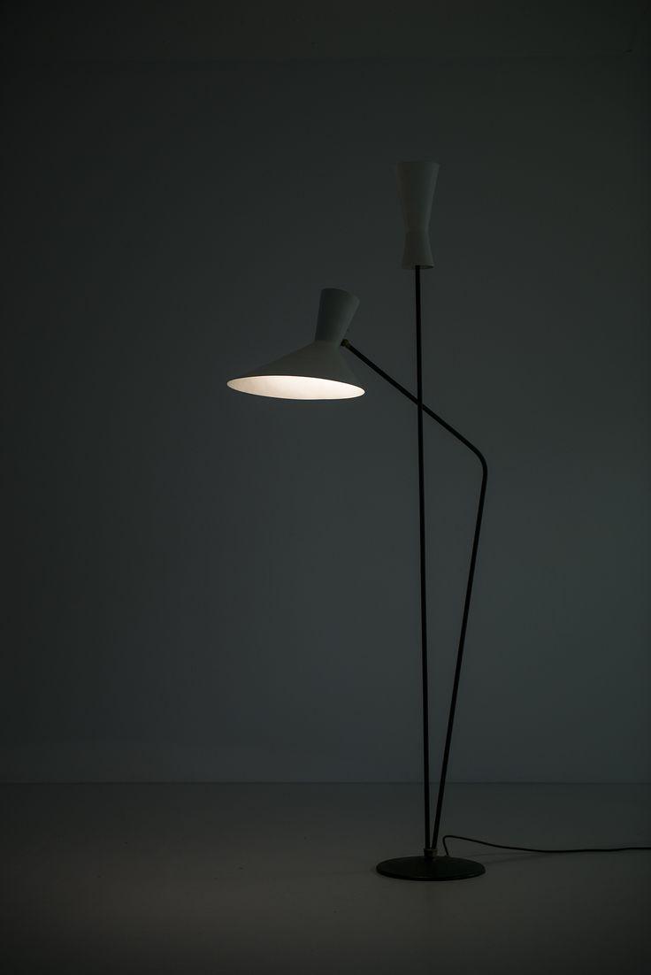 Professor D. Moor floor lamp by BAG Bronzenwaren at Studio Schalling