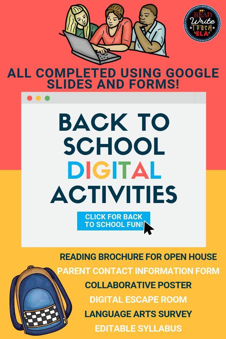Back to School: Digital Activities for Language Arts