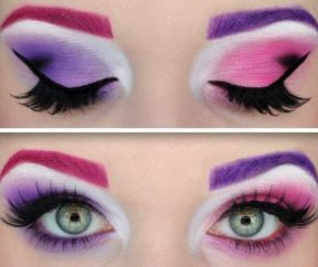 Chesire Cat Make-up - traditional colours