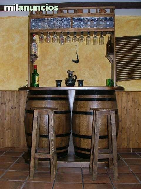 www.milanuncios.com otros-articulos-de-arte barra-bar-de-barriles-con-altillo-141833284.htm