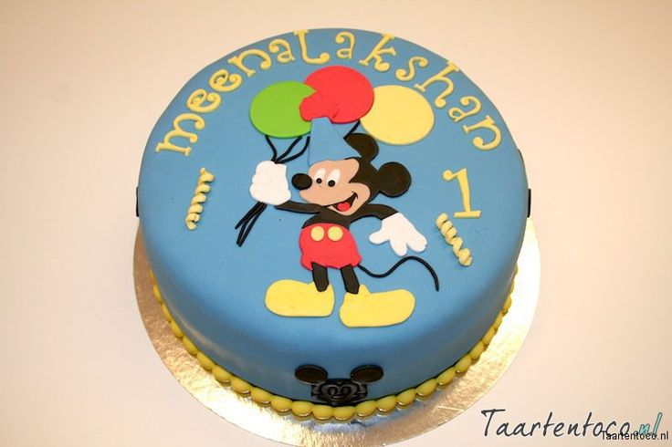 Mickey Mouse Taart  *Mickey Mouse Cake