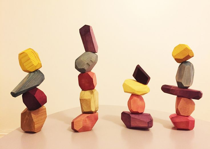 A pair of Swedish designers have created a set of multi-faceted wooden building blocks that have been coloured with fruit and vegetable dyes