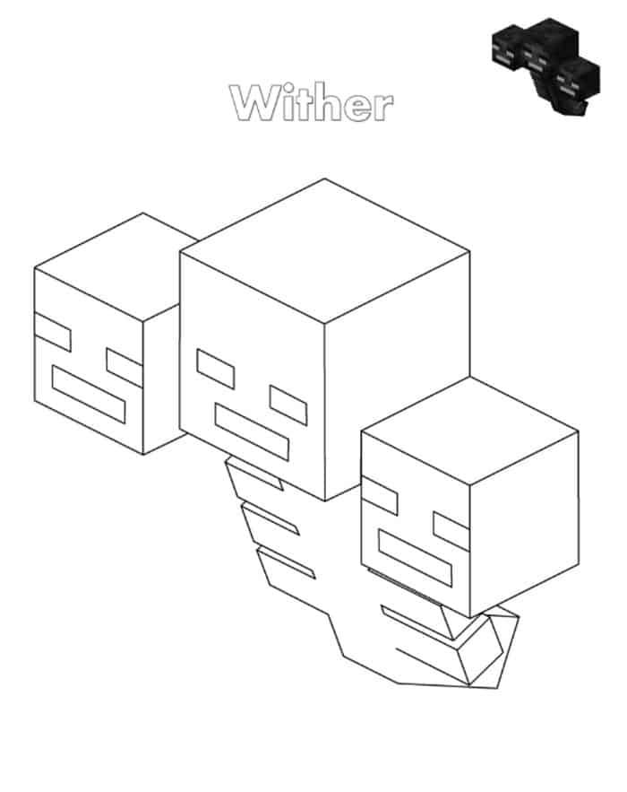 Minecraft Coloring Pages Wither