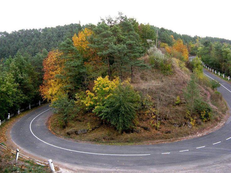 Осінній серпантин поблизу Язлівця / Autumn streamer near Yazlovech
