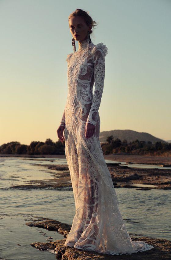 BR 1708 Off The Shoulder Lace Ruffle Gown #weddingdress #bridal2017 #costarellos #bridetobe #brides #lace #novia #abitodasposa #wedding