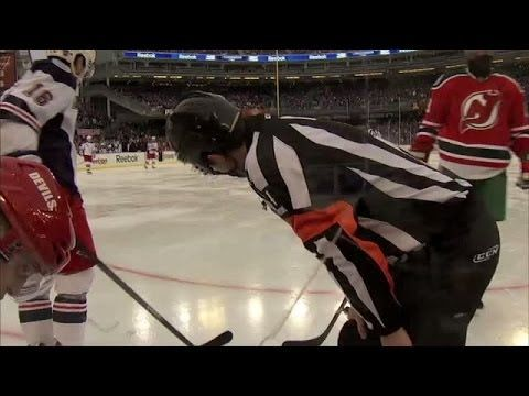 NHL Referee Wes McCauley Wears GoPro during Outdoor Game