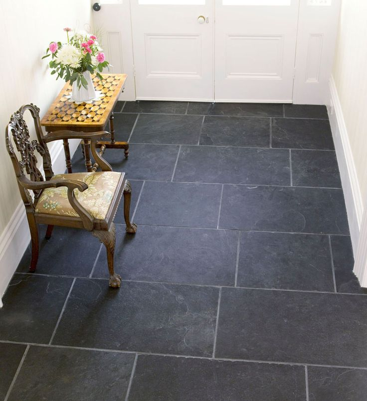 Black Slate Kitchen Tiles: Black Riven Slate In 2019