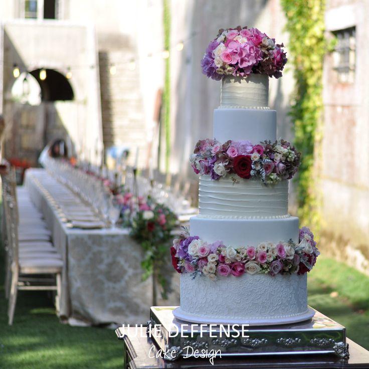 Luxury wedding cake by Julie Deffense of Julie Deffense Artistry. Sarasota, FL, Cascais, Portugal, Worldwide. Cake: Julie Deffense Location: My Vintage Wedding, Sintra, Portugal