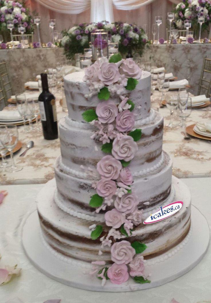 Naked wedding cake from Irresistible Cakes.  #nackedcake #icakes #nackedcakes #nakedweddingcake #cakesgta #cakesmississauga #cakesmarkham #cakestoronto