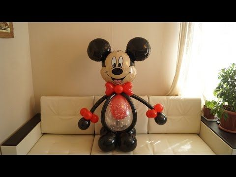 Самый простой и быстрый Микки Маус из шаров. The easiest and quickest of Mickey Mouse balloons. - YouTube