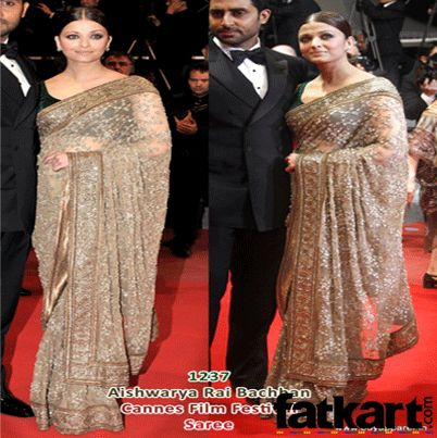 Buy a similar saree like the one wore by Aishwarya Rai @ Cannes Award for just Rs. Rs.3,895   http://www.fatkart.com/sarees/aishwarya-rai-cannes-award-bollywood-saree