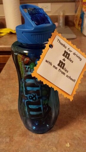 Bus drivers end of the year gift...Thank you for driving me M(miles) & M(miles) to school this year!