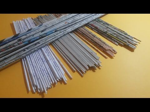 How to make paper tubes for weaving baskets etc - YouTube