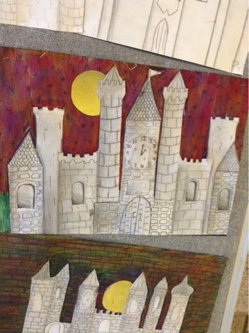 Art at Becker Middle School: Architectural Printing and Castle Value Drawings