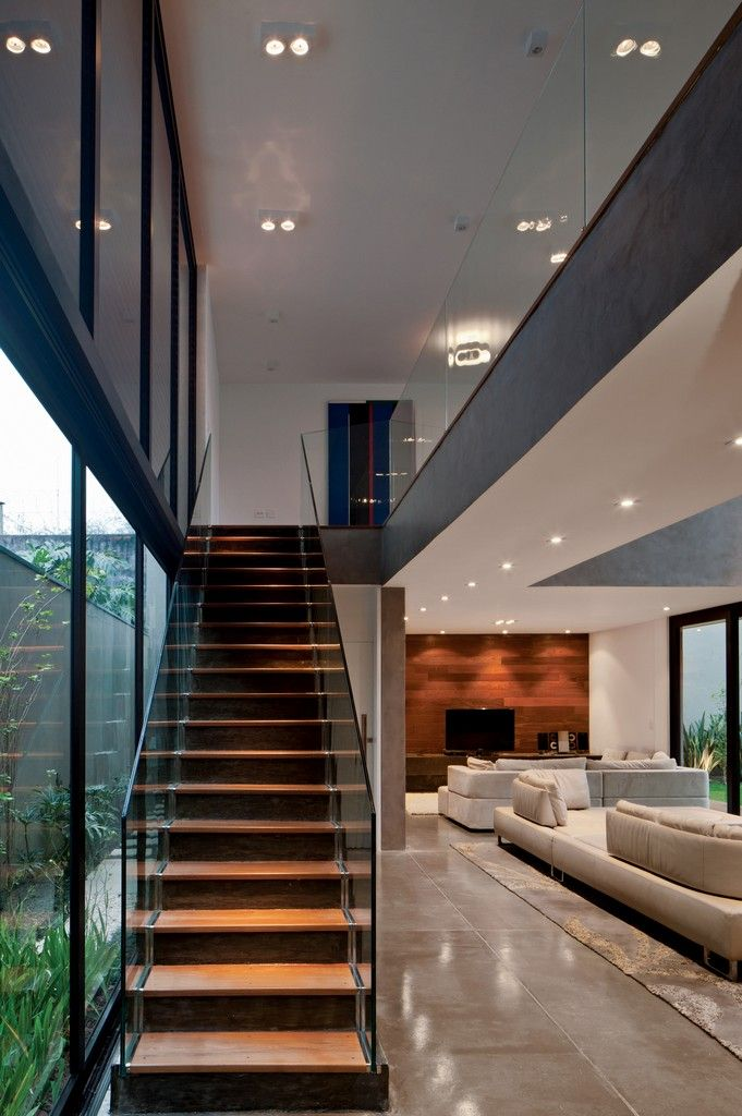 Drucker Arquitetura | Vila Madalena -glass railing for our stairs