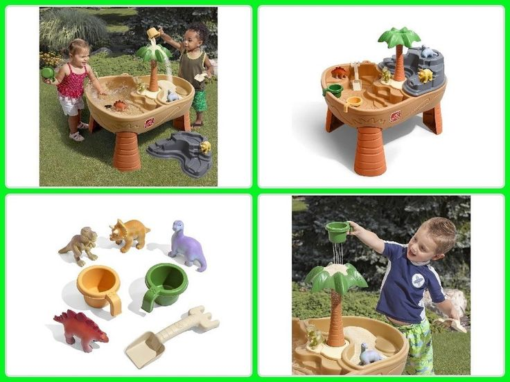 Kids Sand Water Table W/ 7 Accessories Toddler Outdoor Set Toy Step2 Dino Dig