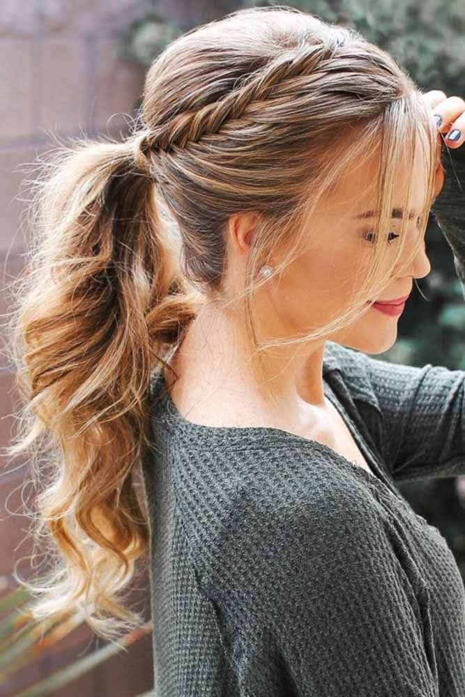 Upgraded Ponytails With Braided Hairstyles #braids #updo #ponytail ❤️ Do not believe in the myth that braided hairstyles are difficult to do. We have picked some braids that are trendy, messy, and, most importantly, easy. ❤️ #lovehairstyles #hair #hairstyles #haircuts