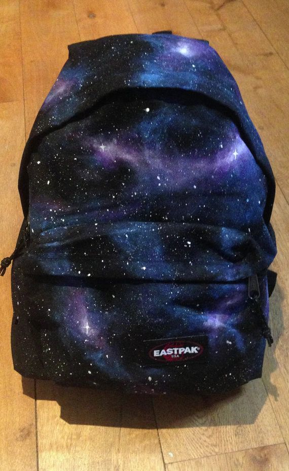 I hate backpacks but the regular ones are killing my shoulder. I guess I could live with this Galaxy Eastpak Pak'r Backpack, it's pretty! Hand painted, from Etsy.