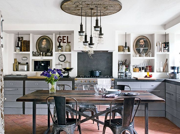eclectic kitchen charm via desire to inspire