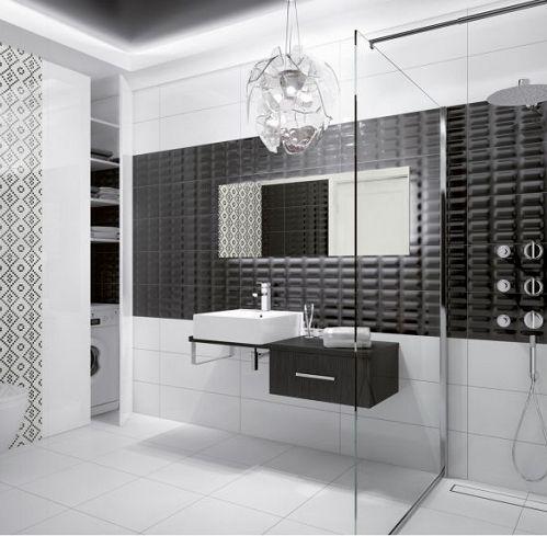 OPOCZNO Seria Pret A Porter   łazienka W Konwencji BLACK U0026 WHITE.