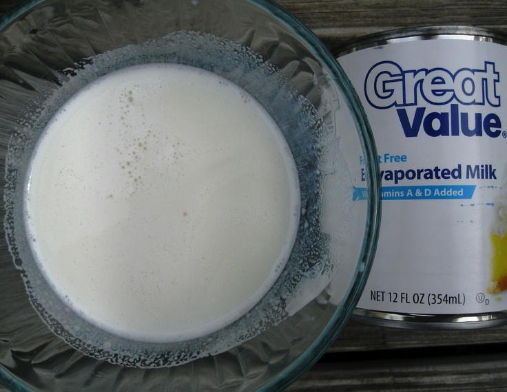 make your own evaporated milk with powdered milk and water...