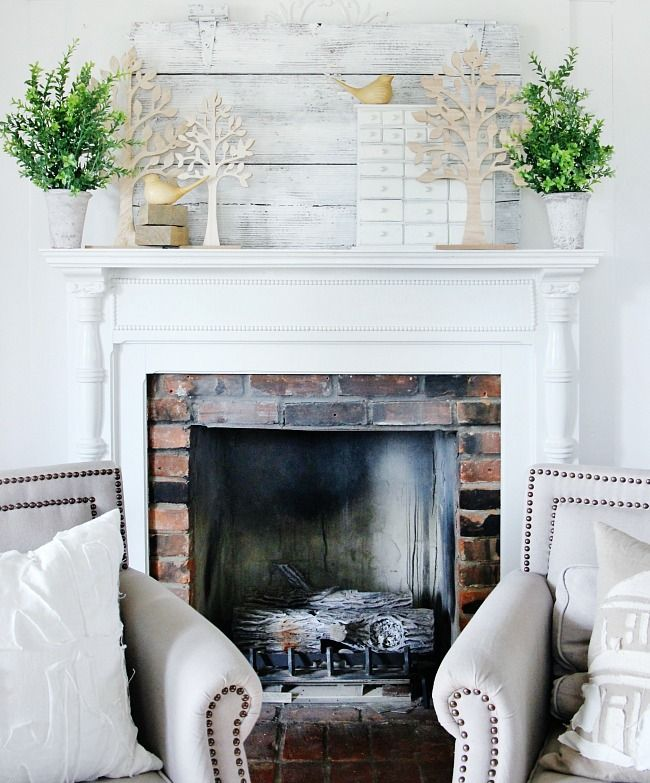 Easy Spring Mantel Decorating Ideas and a
