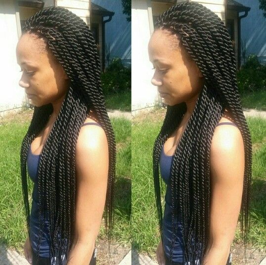 twist big and beautiful singles And i mean here, first of all, big, full and  big box braids look fantastic in  braids from the front section above your forehead and twist them to fix.