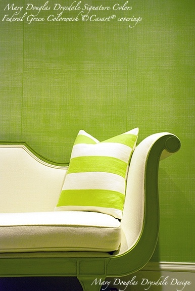 Mary Douglas Drysdale Federal Green for Casart Coverings