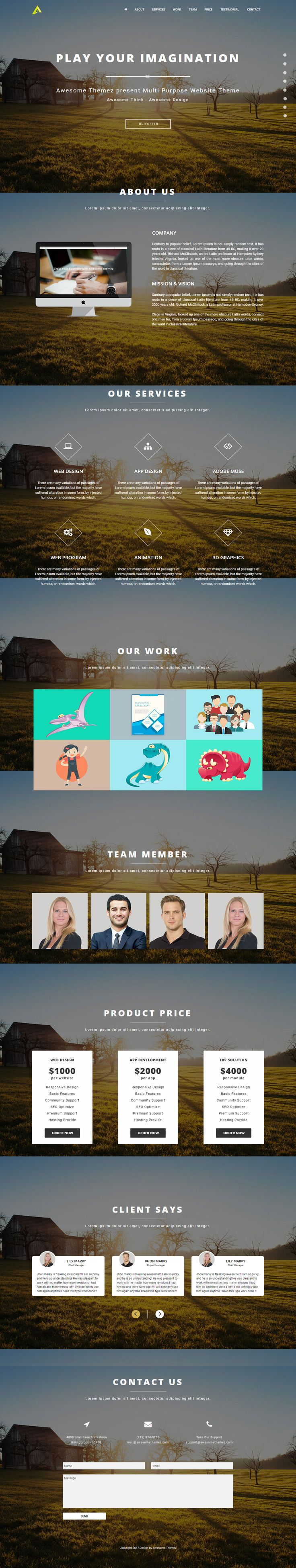 83 best muse templates images on pinterest adobe muse design animate is premium fully responsive musetemplate with onepagedesign if you like this template pronofoot35fo Images
