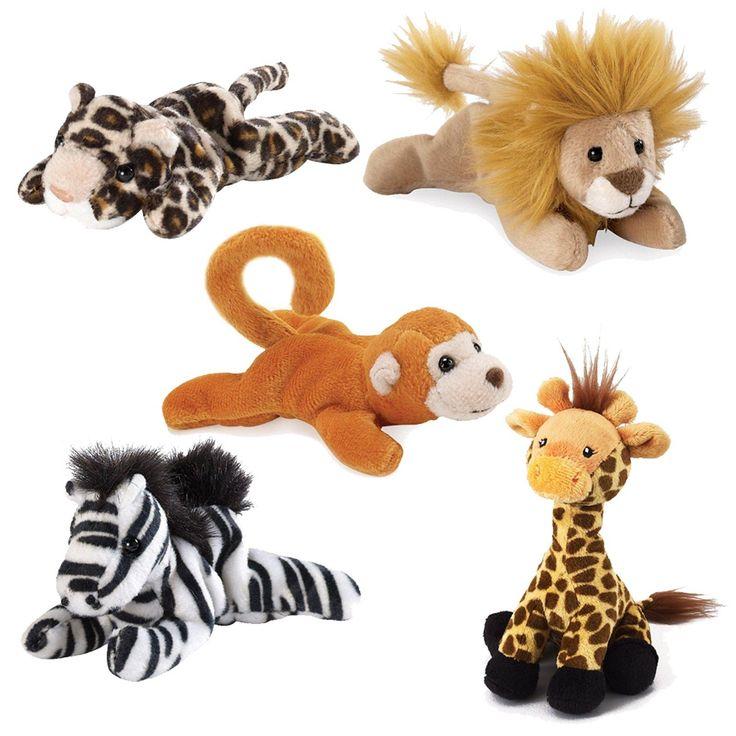 Safari Animal Bean Bag Pack from BirthdayExpress.com