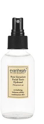 Love this too. $24 evan healy Rose Geranium Facial Tonic Hydrosol
