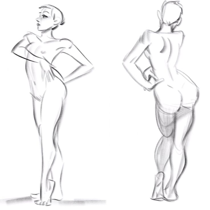 Nude figure drawings from today! 3-min and 5-min poses. Drawn in Procreate. Model is Xine Zanillo (she's wonderful!!) #NSFW #butts