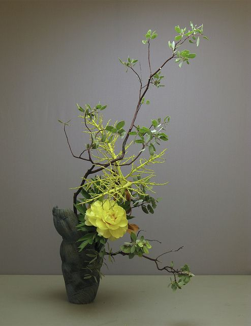 冷夜. Ikebana Japanese flower arrangement