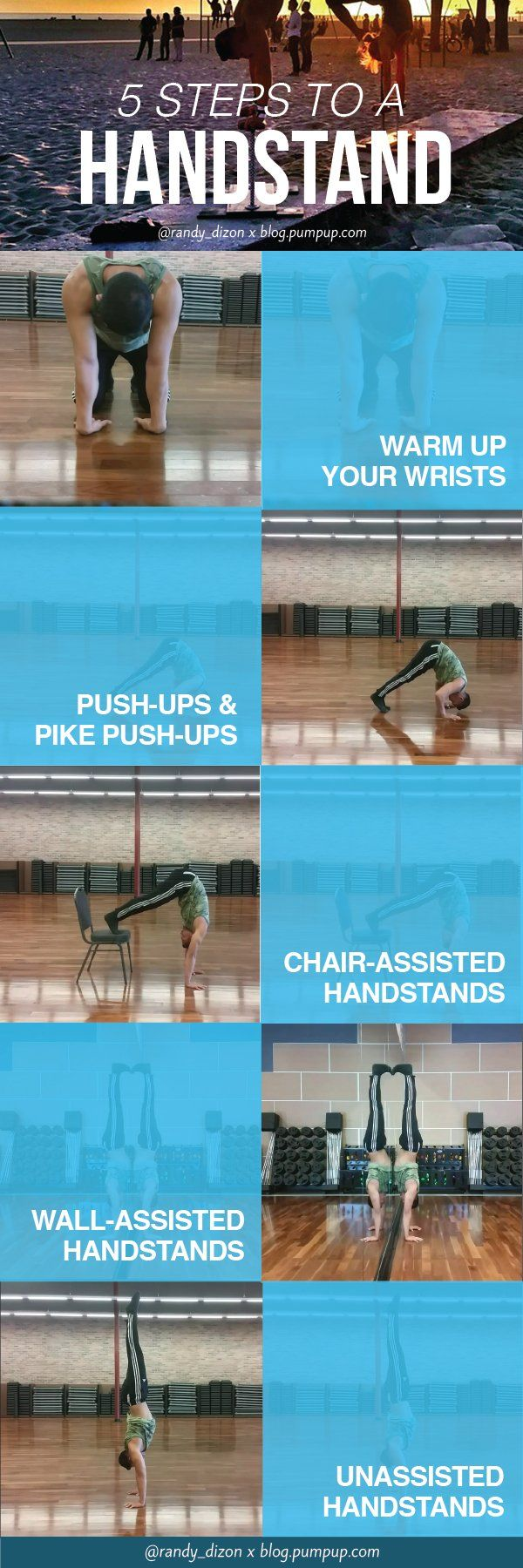Learn how to do a handstand in 5 steps (for beginners) // the PumpUp Blog