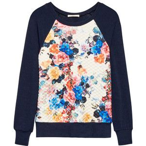 Stitch Fix: Le Lis Gladstone Quilted Front Raglan Knit Top - so cute and girlie! I love the colors.