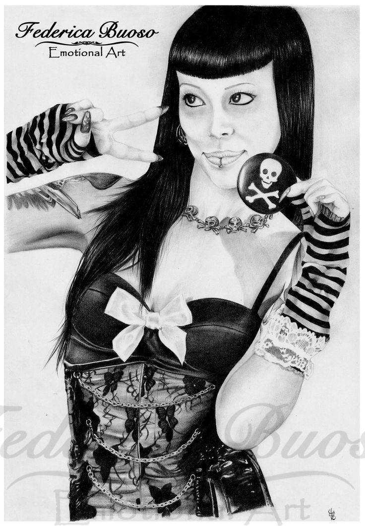 """""""Soraya"""" - Matita su foglio A4 - Omaggio a una ballerina, modella e cantante"""