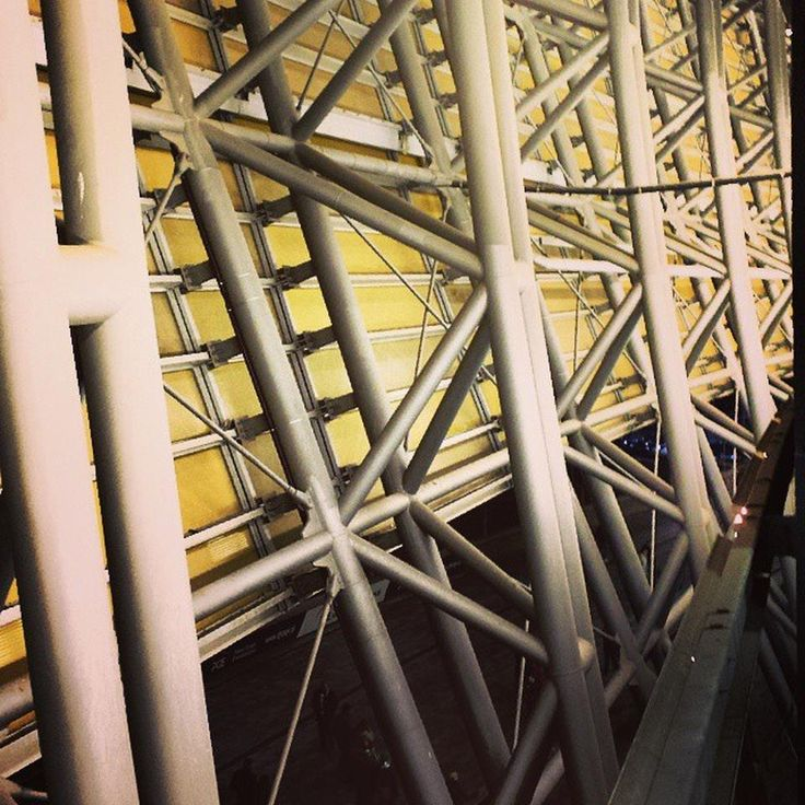 Steel frames support the polycarbonate roof (960×960) #polycarbonate #pge #arena http://kalinowskipro.pl