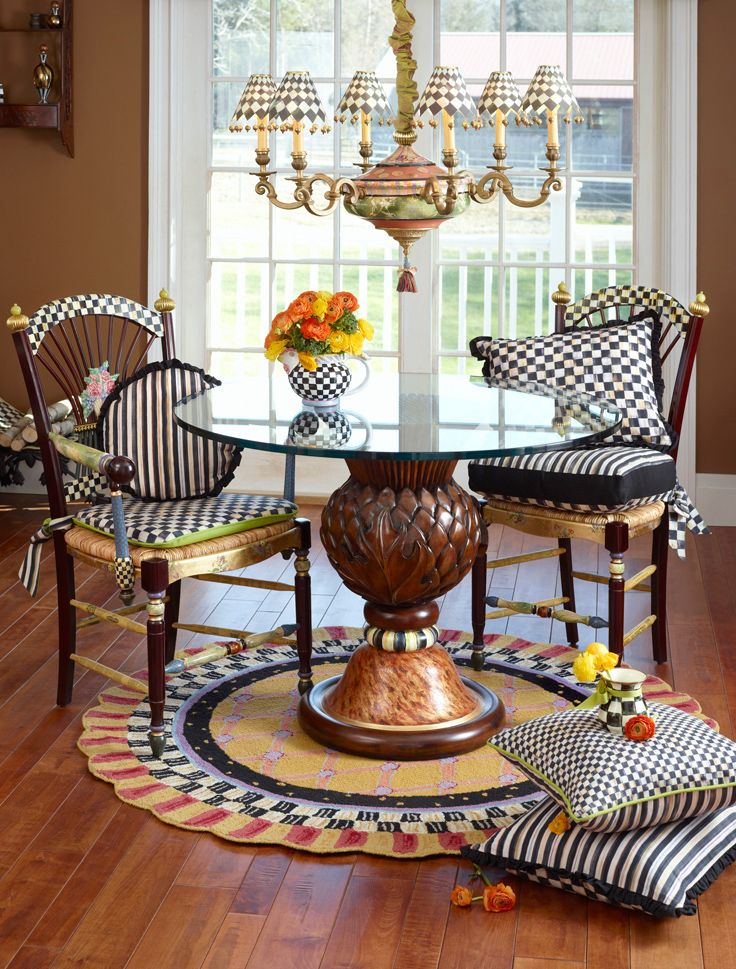 French Country Kitchen Chair Cushions Under Cover 62 Best Mackenzie-childs Images On Pinterest | Painted Furniture, Funky Furniture And Paint