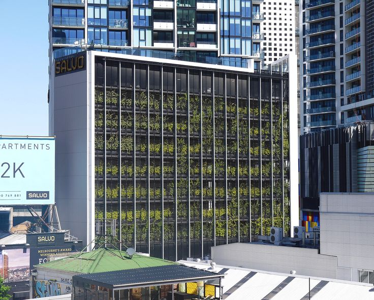 Platinum Apartments, Melbourne CBD - A great shot taken from the Crown Carpark - how fabulous would it be to see more green buildings like this!