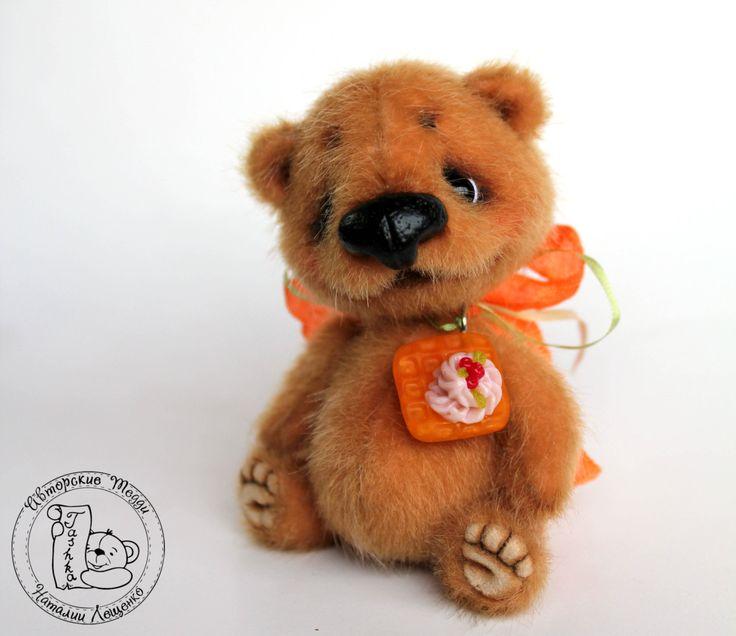 OOAK/Artist Teddy Bear/ Mini Teddy Bear Korzhik by TashkasBears on Etsy