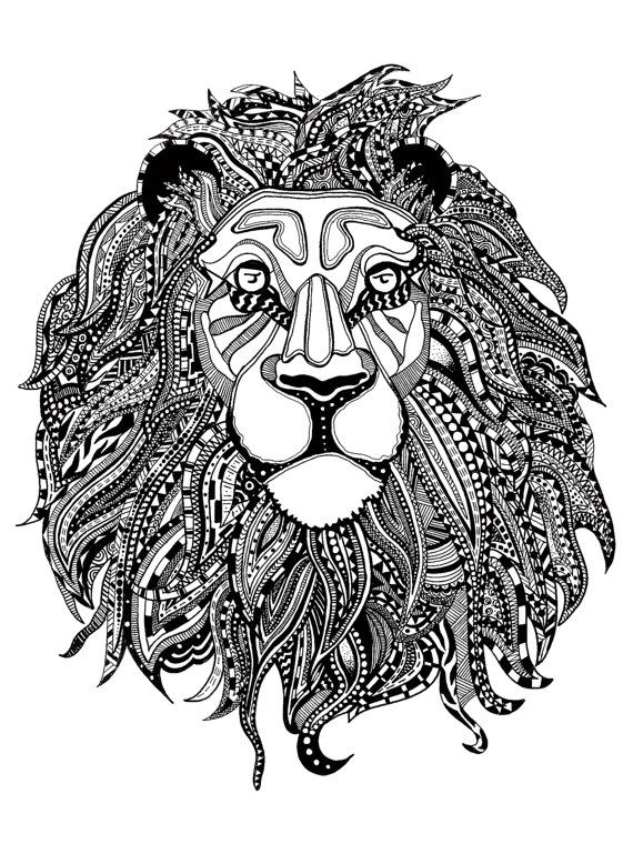 ink pattern lion print le n peque o de mina pinterest ink lion and lion print. Black Bedroom Furniture Sets. Home Design Ideas