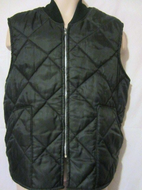 Big Smith Quilted Nylon Vest Mens Size Xl Zip Front