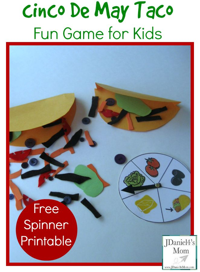 Cinco De Mayo Taco- Fun Game for Kids: The game has  textured game elements that children can help create.