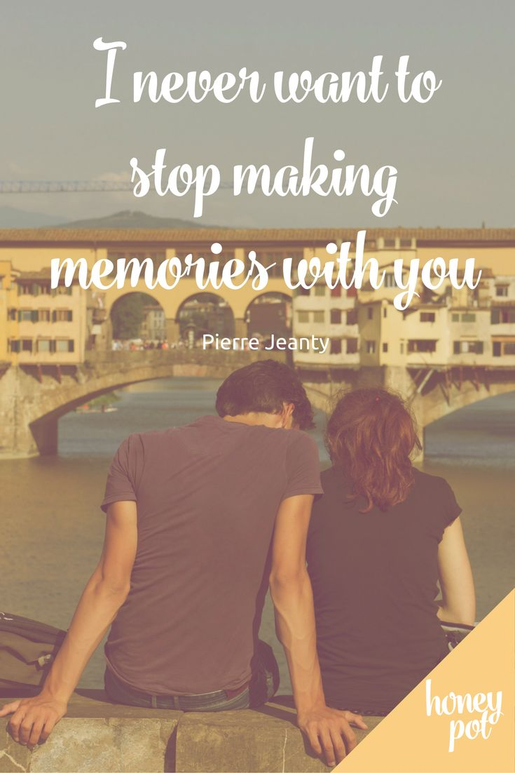 Love the idea that marriage is all about making memories together for a lifetime! Such a beautiful quote about love and life together.