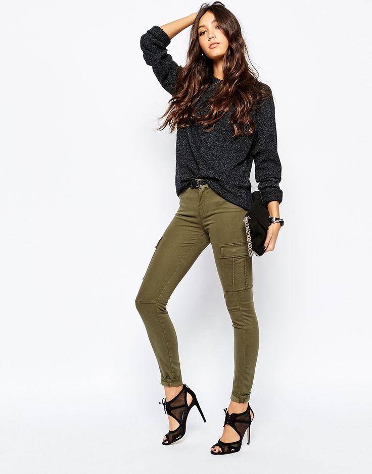 Pantalon par 7 For All Mankind Jean stretch Taille mi-haute Modèle à poches…